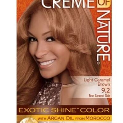 Creme of nature light caramel brown permanent color 9.2