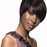 Sleek hair synthetic wig chic style