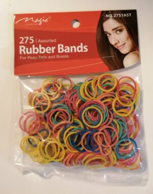 Rubber bands black and multi colored
