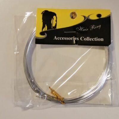 Silver braiding cord